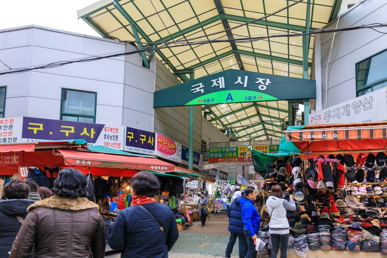 korea busan attraction gukje market nampodong international market shopping