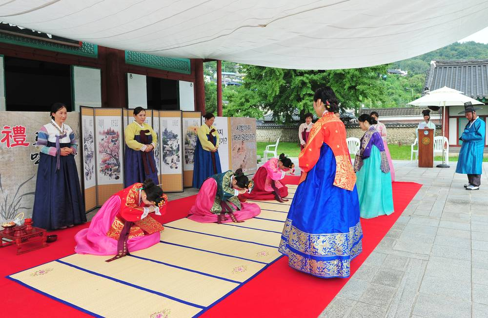korea jeonju travel jeonju hyanggyo traditional historic Confucius school coming-to-age ceremony festival hanbok