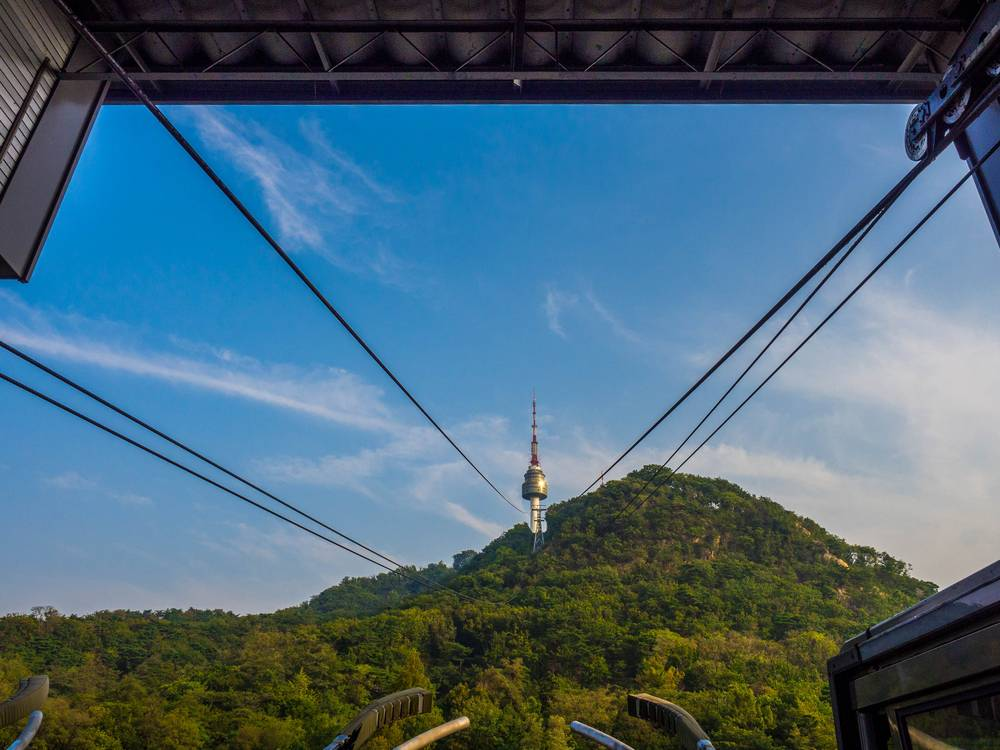 N Seoul Tower Namsan Tower Seoul South Korea Travel Landmark Tourist Attraction Cable Car View Cityscape Entertainment