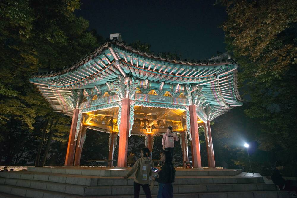 N Seoul Tower Namsan Tower Seoul South Korea Travel Landmark Tourist Attraction View Cityscape Entertainment Palgakjeong