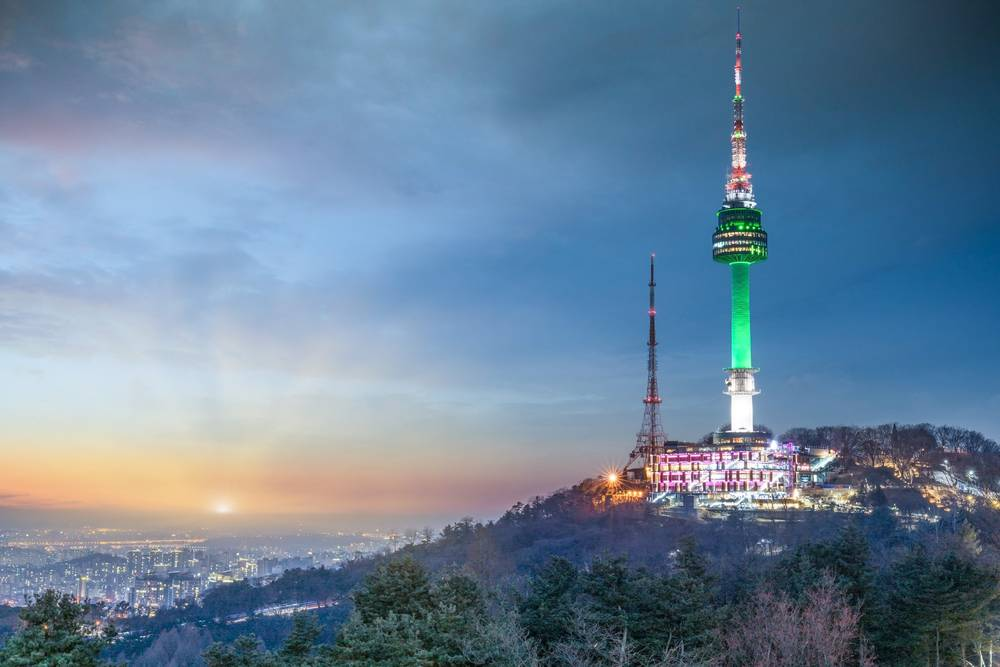 N Seoul Tower Namsan Tower Seoul South Korea Travel Landmark Tourist Attraction View Cityscape Entertainment Nightview