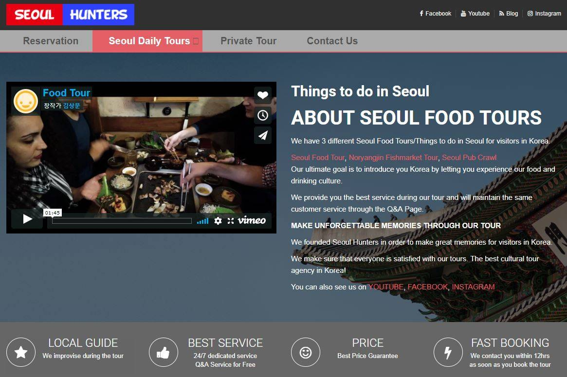 seoul hunters food tour korea seoul korean food cuisine culinary tour drinking