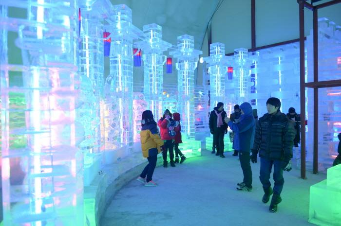 Hwacheon Sancheoneo Ice Festival Korea fishing trout winter travel festival activity performance ice sculpture