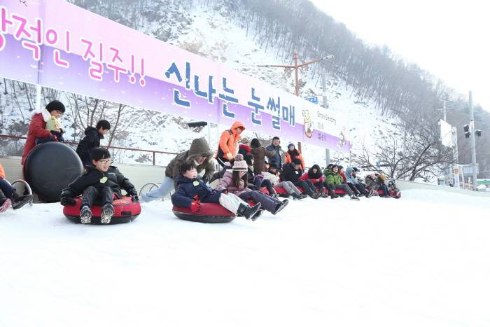 Hwacheon Sancheoneo Ice Festival Korea fishing trout winter travel festival activity performance eats snow sledding ice