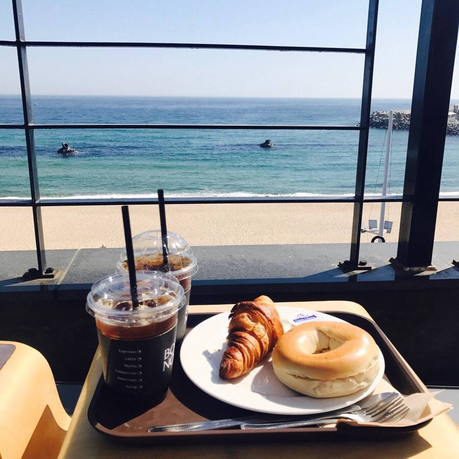 South Korea Travel Coffee Cafe Desserts Scenic View Gangneung Ocean View Bossanova Sky Rooftop Chill