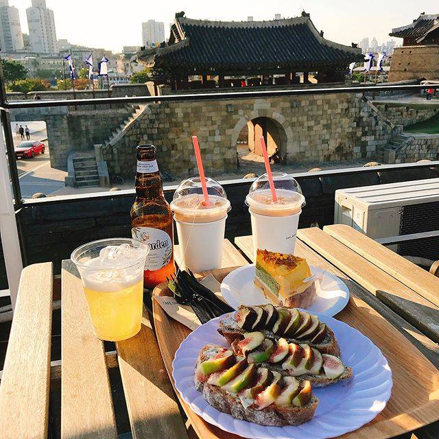 South Korea Travel Coffee Cafe Desserts Scenic View Suwon Hwaseong Cafe One More