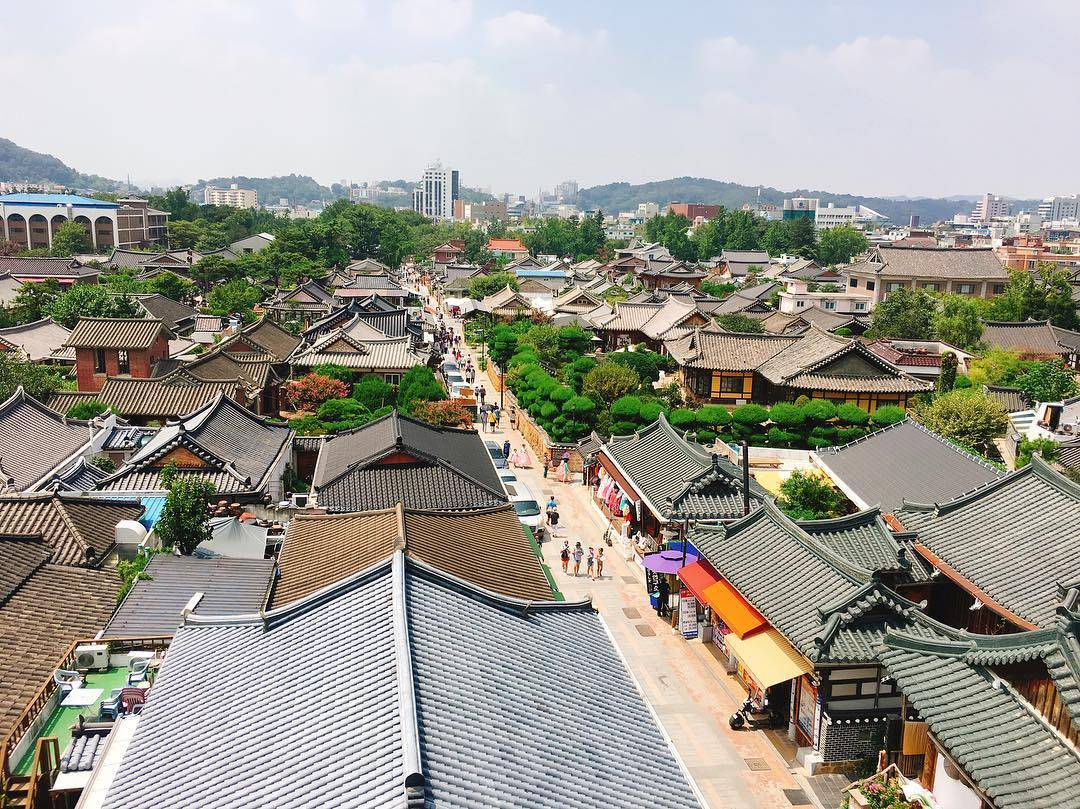 South Korea Travel Coffee Cafe Desserts Scenic View Jeonju Hanok Village Jeonmang Traditional