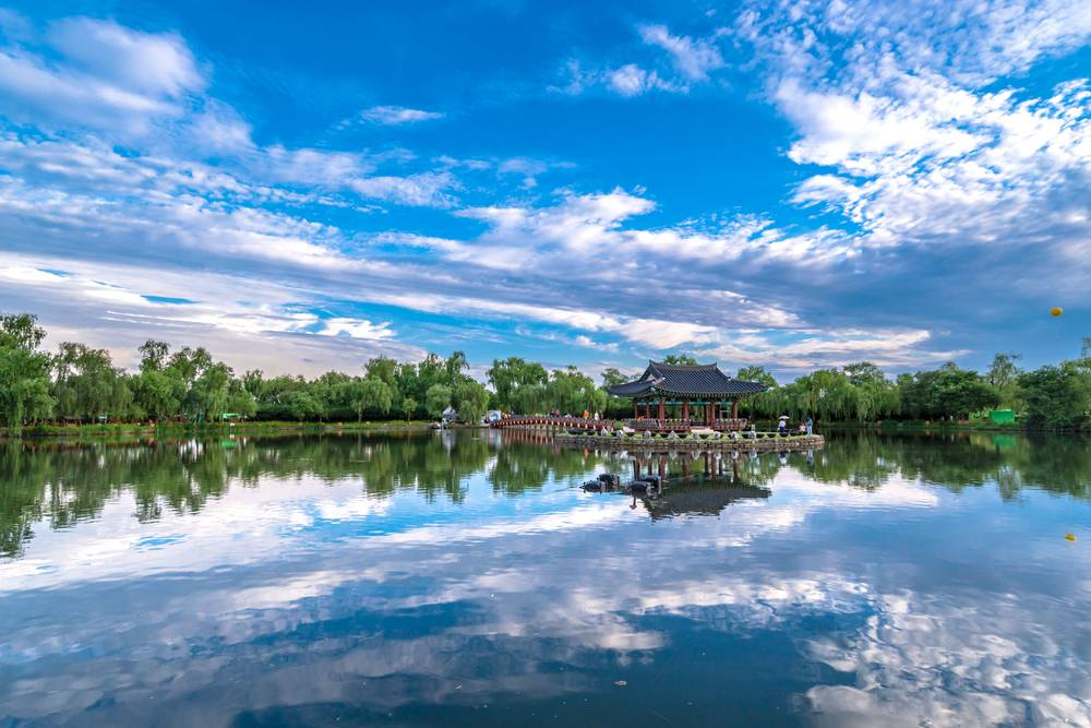 South Korea Travel Buyeo Historic History Gungnamji Pond Scenic Beautiful Tourist Attraction